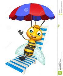 personaje-de-dibujos-animados-lindo-de-la-abeja-con-la-silla-de-playa-68532012.jpg