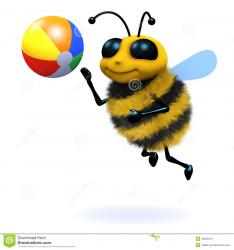 d-bee-beach-ball-render-playing-40528161.jpg